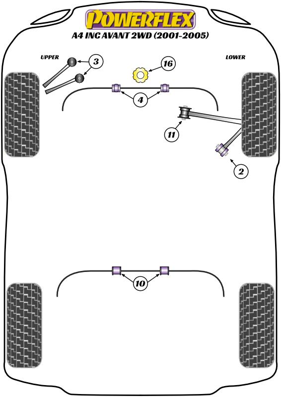 A4 inc. Avant 2WD - B6 - 2001-2005