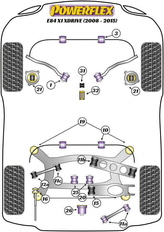 X Series - E84 - X1 xDrive - 2008-2015