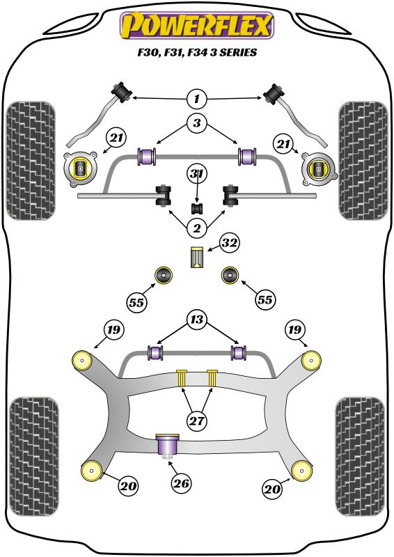 3 Series - F30, F31, F34 - RWD Models - 2011-