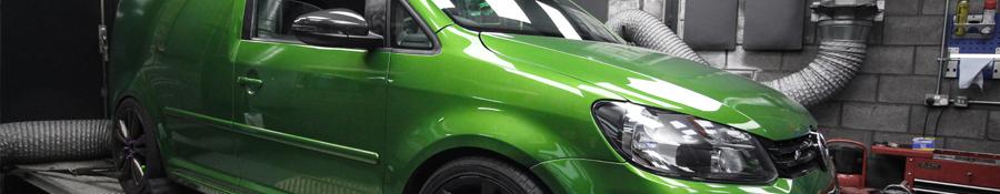 VW Caddy Van Green